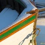 Båtför i vinterskrud
